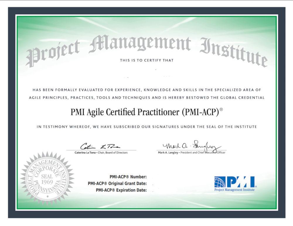 Agile Certified Practitioner vizsga